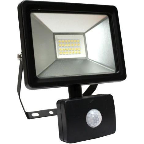 projecteur led avec detecteur slim gekko arev 20 w noir. Black Bedroom Furniture Sets. Home Design Ideas