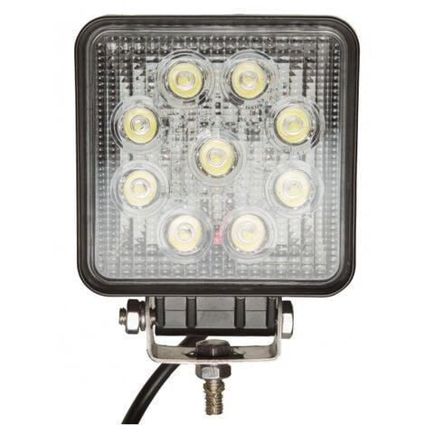 Projecteur LED carré noir 27W extérieur IP67