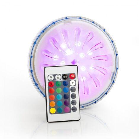 Projecteur LED couleur aimanté + télécommande piscine hors-sol