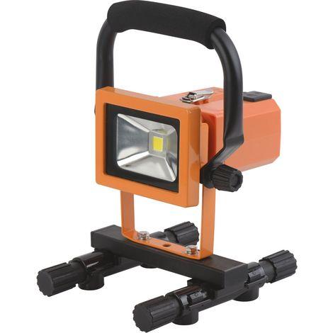 Projecteur LED de chantier rechargeable batterie amovible Dhome - 1800 lm - Orange et noir