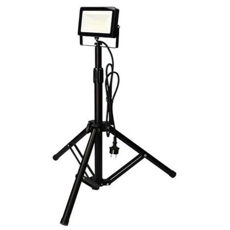 Projecteur Led EDM sur Trépied 6400k - 30W 2000 Lumens - Noir