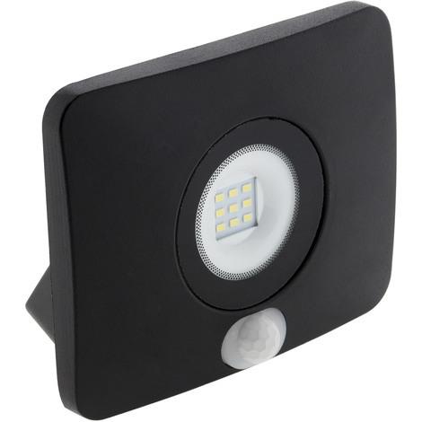 Projecteur Led étanche 10W avec détecteur noir