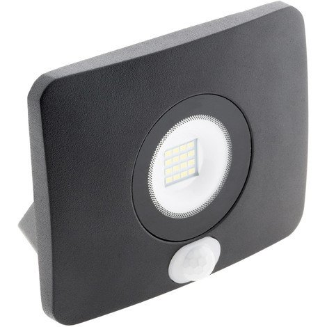 Projecteur LED étanche 20W avec détecteur noir