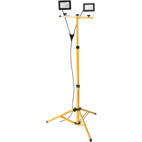 Projecteur LED étanche sur trépied 2x 20W IP65 - Elexity