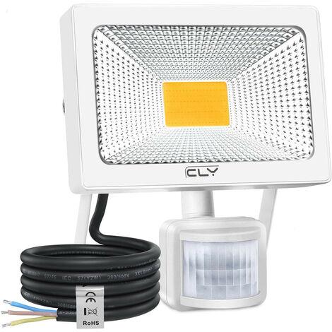 Projecteur led extérieur 30w Blanc froid + détecteur étanche IP65