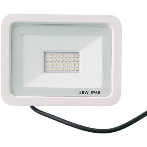Projecteur LED Extérieur 30W IP66 BLANC