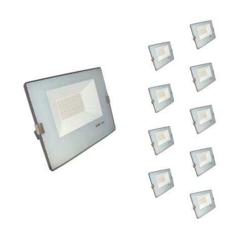 Projecteur LED Extérieur 50W IP65 - BLEU GRIS (Pack de 10) - Blanc Neutre 4000K - 5500K