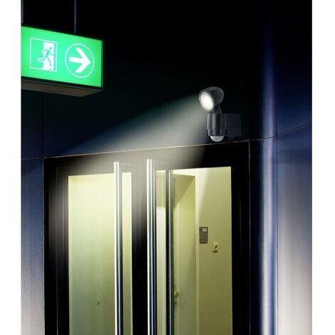 Projecteur LED extérieur avec détecteur de mouvements blanc neutre Renkforce Cadiz 1 W noir