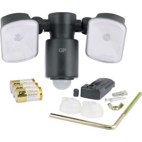 Projecteur LED extérieur avec détecteur de mouvements N/A GP Batteries RF4.1 noir S437141