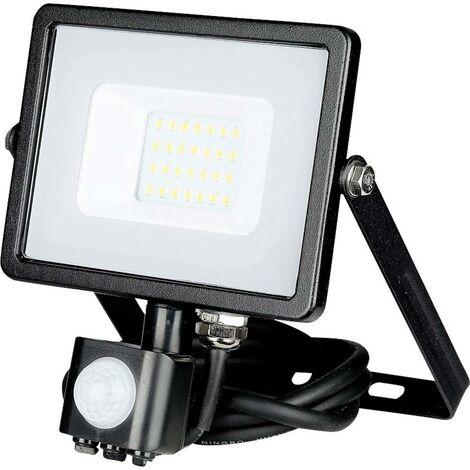 Projecteur LED Extérieur Avec Détecteur Infrarouge  Pro 20W Ip65 Samsung Chip Noir Vt-20-s