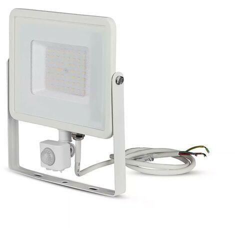 Projecteur LED Extérieur Avec Détecteur Infrarouge  Pro 50W Ip65 Samsung Chip Blanc Vt-50-s
