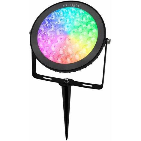 Projecteur LED extérieur sur piquet 15W RGB CCT contrôle RF/WiFi | Mi Light