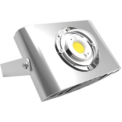 projecteur led gris ext rieur 10 20 30 50w 10w sans. Black Bedroom Furniture Sets. Home Design Ideas