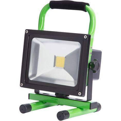 Projecteur LED IP65 Batterie Rechargeable 20W 2000Lm 30.000H   Blanc Neutre (UPL-FL20W)