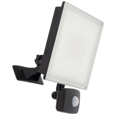 Projecteur LED mural noir - 4000 lumens - détecteur de mouvement | Xanlite