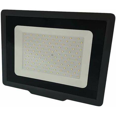 Projecteur LED Noir 100W (500W) IP65 8000 lumens - Blanc Chaud 2700K