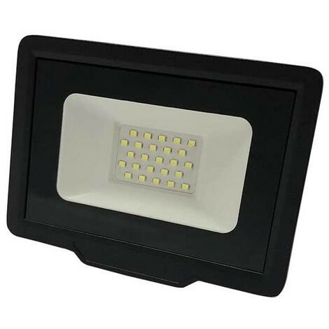 Projecteur LED Noir 20W (100W) Étanche IP65 1600lm - Blanc Chaud 2700K