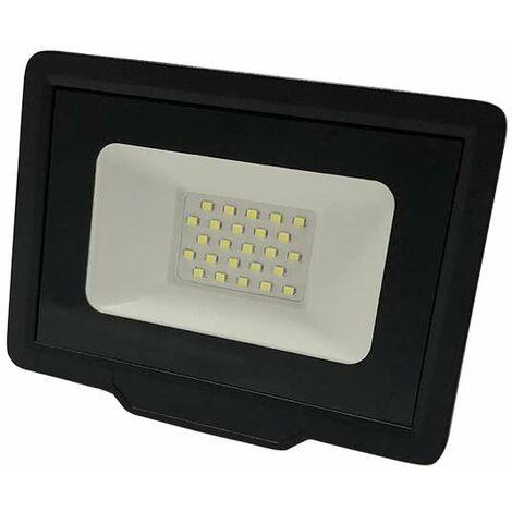 Projecteur LED Noir 20W (100W) Étanche IP65 1600lm - Blanc du Jour 6000K