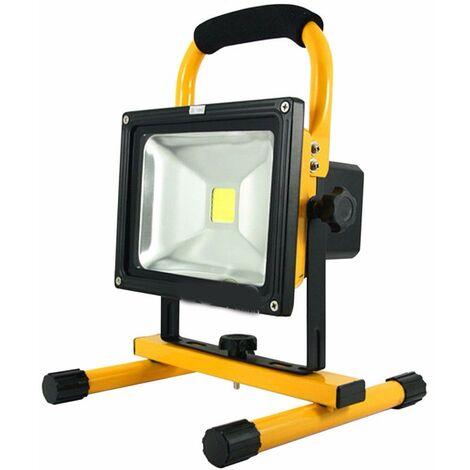 Projecteur LED Rechargeable 20W Portable IP65 JAUNE - Blanc Froid 6000K - 8000K - SILAMP