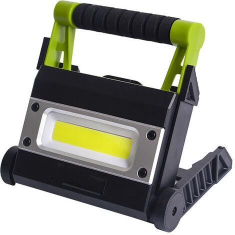 Projecteur LED Rechargeable Projecteur ChantierLampe de Travail Lanterne Portable avec Rotation à 360°.