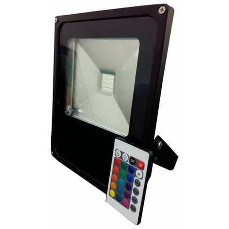 Projecteur LED RGB 50W avec télécommande - éclairage 300W Noir RGB