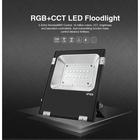 Projecteur LED RGB+CCT 20W radiofréquence RGB + WW-CW