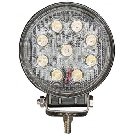 Projecteur LED rond noir 27W extérieur IP67