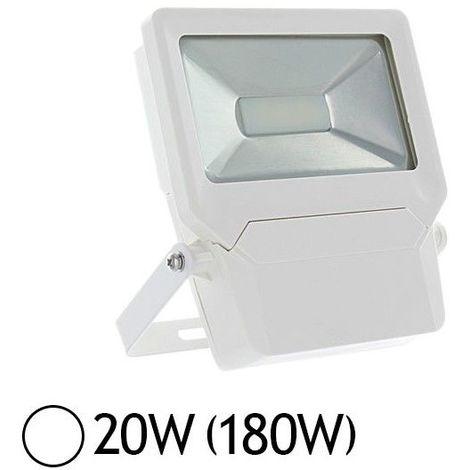 Projecteur LED SMD 20W Design Plat Extérieur IP65