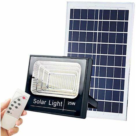 Projecteur LED Solaire 12W 800Lm 3,2V/5,5Ah - Blanc Jour 6000K