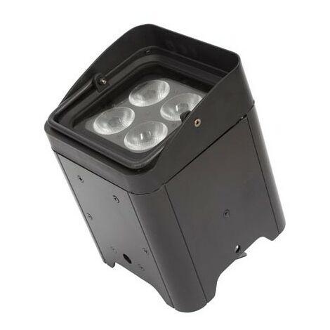 projecteur led sur batterie - 4 x 12 w rgbwa-uv - noir