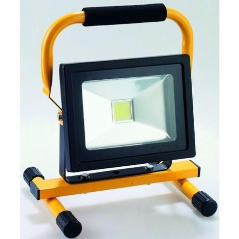 projecteur led sur pied rechargeable avec poignee 20w. Black Bedroom Furniture Sets. Home Design Ideas