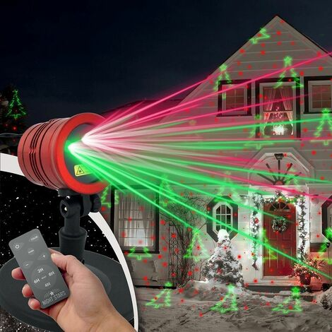 Projecteur lumineux de Noël X-MAS NIGHTSTARS avec télécommande