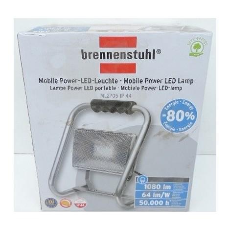 """main image of """"Projecteur mobile LED 17W alu 6400K 1080lm avec support, poignée et cable 3G1 L2m IP44 ML2705 BRENNENSTUHL 1173320"""""""