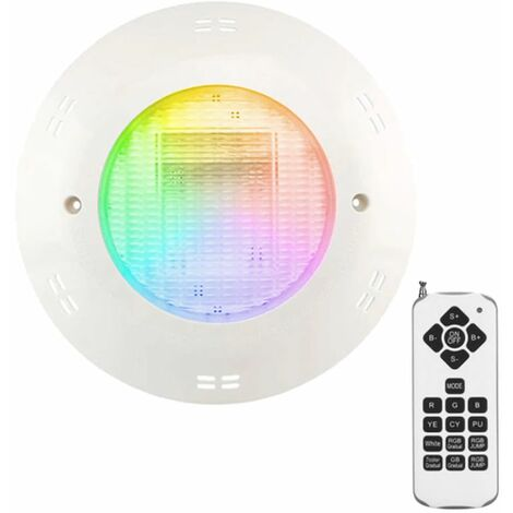 Projecteur Piscine LED Couleur 12W en saillie IP68 + Télécommande CREALYS