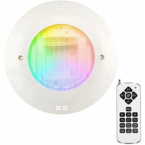 Projecteur Piscine LED Couleur 18W en saillie IP68 + Télécommande CREALYS
