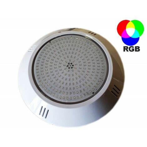 Projecteur piscine LED RGB extra plat à résine injectée 252 LED diamètre 26cm