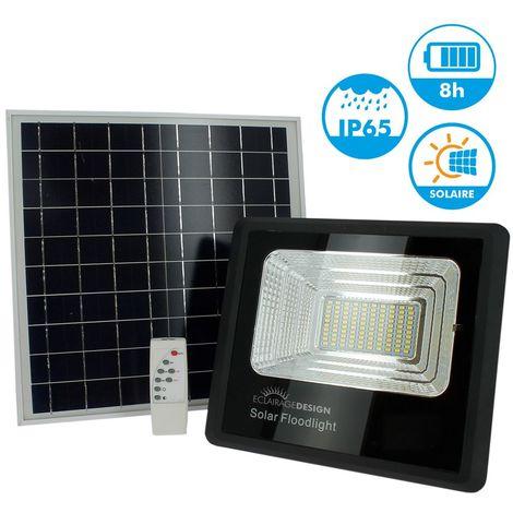 Projecteur Solaire 40W avec son Panneau Solaire et Télécommande | Température de Couleur: Blanc froid 6400K