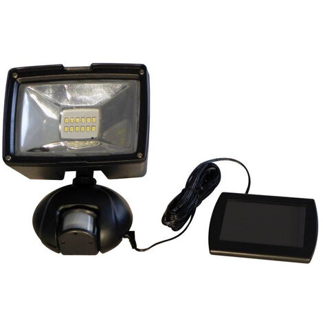 Projecteur solaire à détecteur de mouvements Noir 19 cm