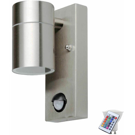 Projecteurs dimmable de commande à distance de lumière de mur extérieur capteur de jardin dans l'ensemble comprenant les lampes à LED RGB