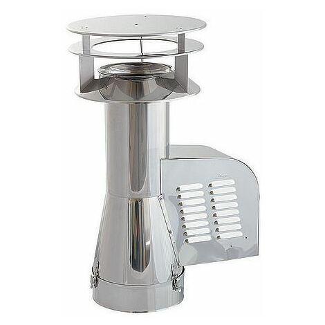 Projet générateur tuyau d'entrée de rotowent en acier inoxydable 150mm + hotte supplémentaires