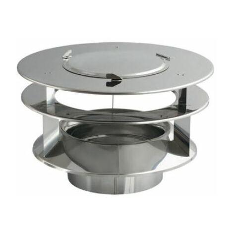 Projet générateur tuyau d'entrée de rotowent en acier inoxydable 200mm + hotte supplémentaires