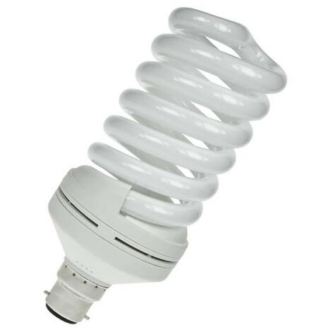 Prolite CFL Helix Spiral 55W B22 Warm White Frosted
