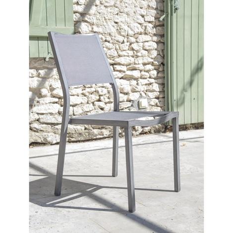 Proloisirs Chaise de jardin Florence Ice Argent Vendu(e)s par 2