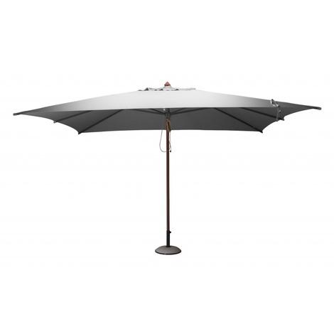 PROLOISIRS Parasol bois rectangulaire 3x4m Gris