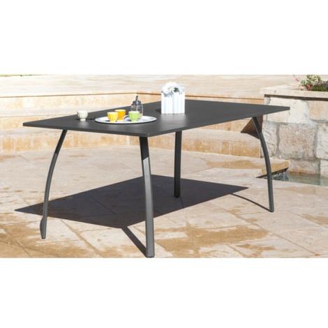 "main image of ""Proloisirs Table de jardin Granada 170 Grise"""