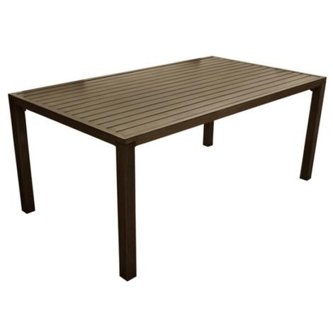 Proloisirs Table Milano Brush en aluminium brun