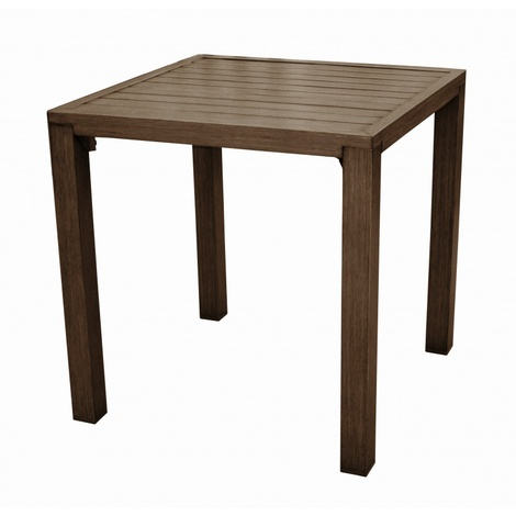 """main image of """"Proloisirs Table Milano carrée 73 cm Brun"""""""