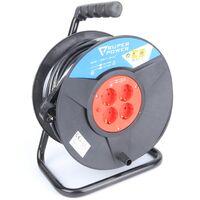 Prolongador Electrico 50 M, con enrolador - 3Gx1.5mm2 - SUPER POWER