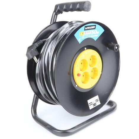 Prolongador Eléctrico con Enrollador Metálico 50M - 2.5 mm² - MADER® | Home Tools