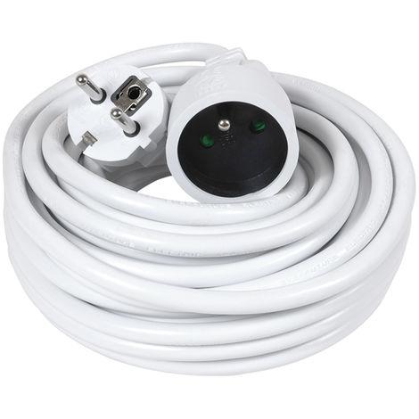 Prolongateur 10m HO5VV-F 3G1.5 blanc - Debflex